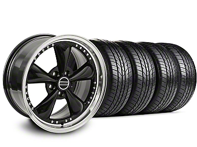 Bullitt Motorsport Black Wheel & Sumitomo All Season Tire Kit - 18x9 (87-93 5 Lug Conversion)