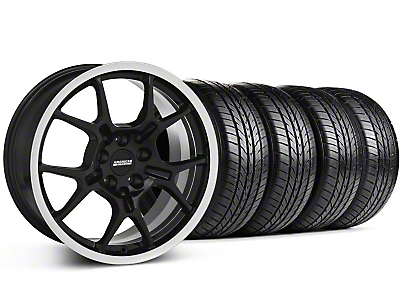 GT4 Black Wheel & Sumitomo All Season Tire Kit - 18x9 (87-93 5 Lug Conversion)