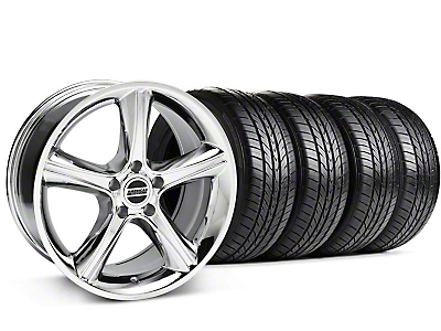 2010 GT Premium Style Chrome Wheel & Sumitomo All Season Tire Kit - 18x9 (87-93 5 Lug Conversion)