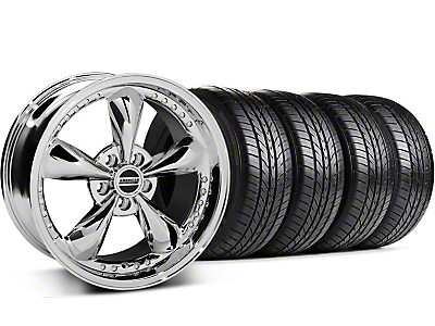 Bullitt Motorsport Chrome Wheel & Sumitomo All Season Tire Kit - 18x9 (87-93 5 Lug Conversion)