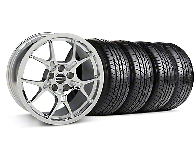 GT4 Chrome Wheel & Sumitomo All Season Tire Kit - 18x9 (87-93 5 Lug Conversion)