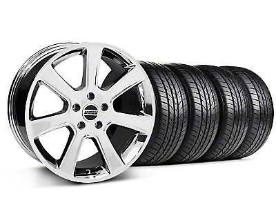 S197 Saleen Chrome Wheel & Sumitomo All Season Tire Kit - 18x9 (87-93 5 Lug Conversion)