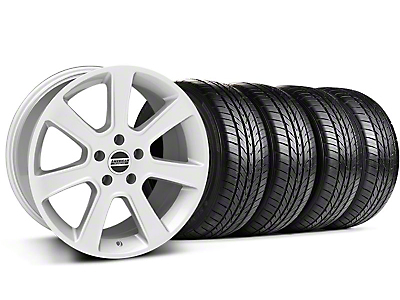 S197 Saleen Silver Wheel & Sumitomo All Season Tire Kit - 18x9 (87-93 5 Lug Conversion)
