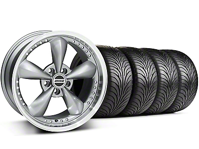 Bullitt Motorsport Anthracite Wheel & Sumitomo Tire Kit - 18x9 (87-93 5 Lug Conversion)