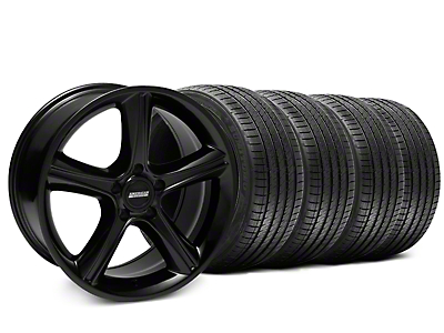 2010 GT Premium Style Black Wheel & Sumitomo Tire Kit - 18x9 (87-93 5 Lug Conversion)