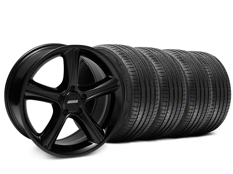 2010 GT Premium Style Black Wheel & Sumitomo Tire Kit - 18x9 (87-93 5 Lug Conversion)