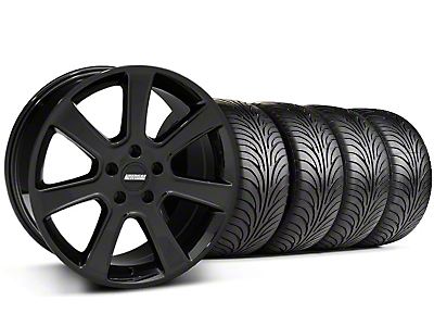 S197 Saleen Style Black Wheel & Sumitomo Tire Kit - 18x9 (87-93 5 Lug Conversion)