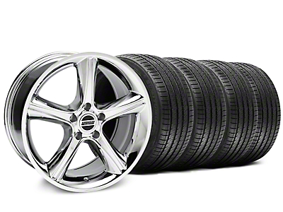 2010 GT Premium Style Chrome Wheel & Sumitomo Tire Kit - 18x9 (87-93 5 Lug Conversion)