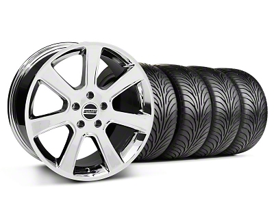 S197 Saleen Style Chrome Wheel & Sumitomo Tire Kit - 18x9 (87-93 5 Lug Conversion)