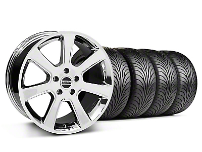 S197 Saleen Chrome Wheel & Sumitomo Tire Kit - 18x9 (87-93 5 Lug Conversion)