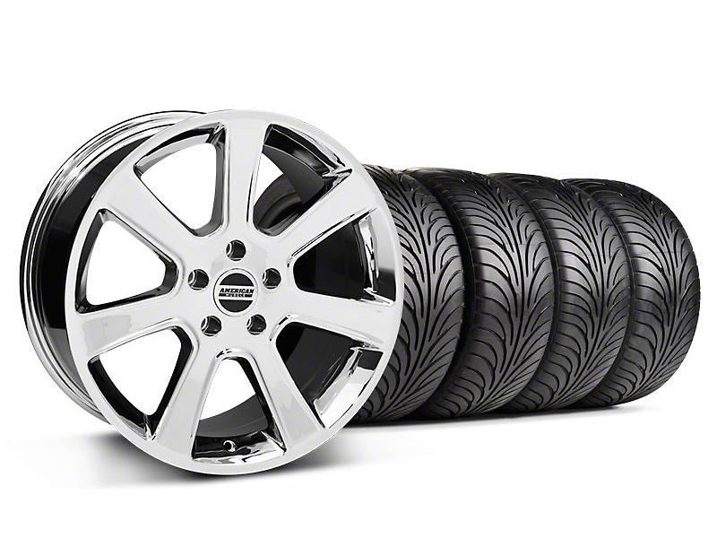 S197 Saleen Style Chrome Wheel & Sumitomo Tire Kit - 18x9 (87-93 5 Lug Conversion)