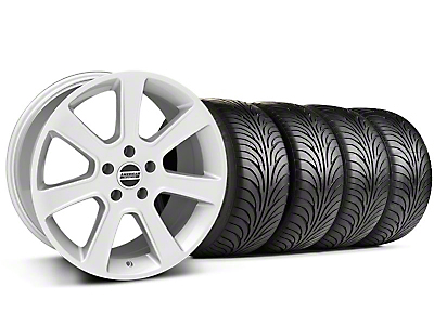 S197 Saleen Silver Wheel & Sumitomo Tire Kit - 18x9 (87-93 5 Lug Conversion)
