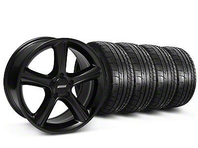 2010 GT Premium Style Black Wheel & Mickey Thompson Tire Kit - 18x9 (87-93 5 Lug Conversion)