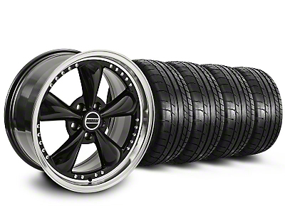 Bullitt Motorsport Black Wheel & Mickey Thompson Tire Kit - 18x9 (87-93 5 Lug Conversion)