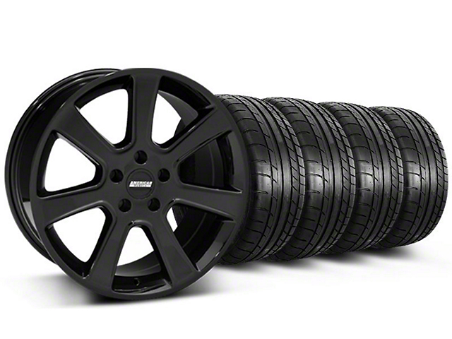 S197 Saleen Style Black Wheel & Mickey Thompson Tire Kit - 18x9 (87-93 5 Lug Conversion)