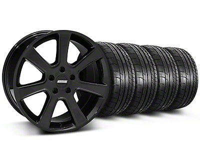 S197 Saleen Black Wheel & Mickey Thompson Tire Kit - 18x9 (87-93 5 Lug Conversion)