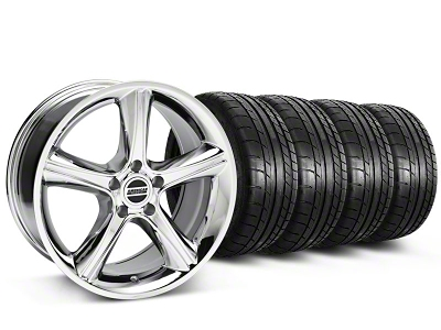 2010 GT Premium Style Chrome Wheel & Mickey Thompson Tire Kit - 18x9 (87-93 5 Lug Conversion)