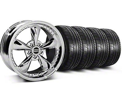 Bullitt Motorsport Chrome Wheel & Mickey Thompson Tire Kit - 18x9 (87-93 5 Lug Conversion)