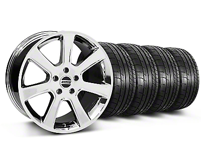 S197 Saleen Style Chrome Wheel & Mickey Thompson Tire Kit - 18x9 (87-93 5 Lug Conversion)