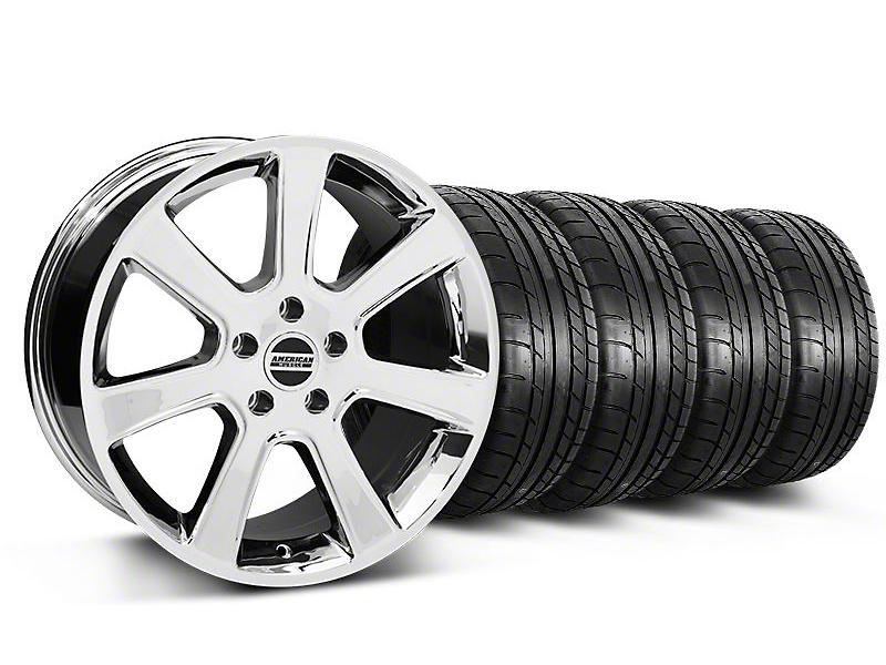 S197 Saleen Style Chrome Wheel & Mickey Thompson Tire Kit - 18x9 (87-93 5 Lug Conversion)