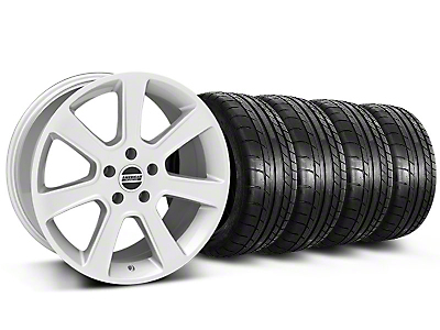S197 Saleen Style Silver Wheel & Mickey Thompson Tire Kit - 18x9 (87-93 5 Lug Conversion)