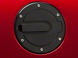 Mmd Black Mustang Billet Aluminum Fuel Door Erican Muscle