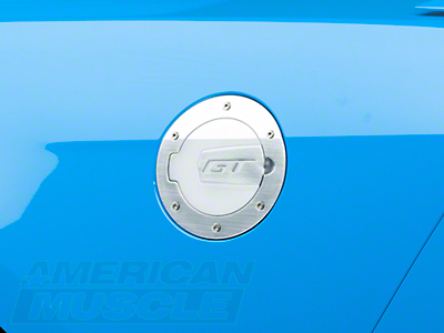 SHR Brushed Fuel Door - GT Logo (10-14 All)