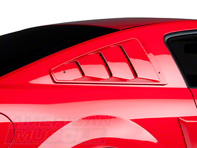 Roush Quarter Window Louvers - Unpainted (05-09 All)