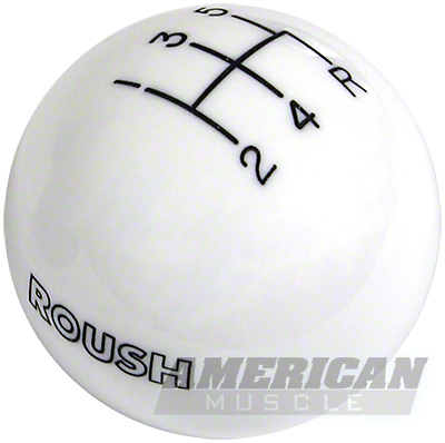 Roush Retro Style 5-Speed Shift Knob - White (2005+)