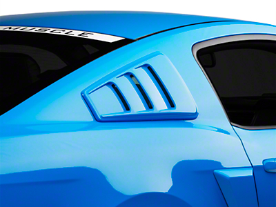 Roush Quarter Window Louvers - Unpainted (10-14 All)