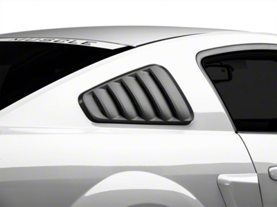 MMD Classic Quarter Window Louvers - Matte Black (05-09 All)