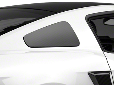 MMD GT350 Style Window Covers - Carbon Fiber (10-14 All)