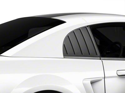 MMD Quarter Window Louvers - Matte Black (99-04 GT, V6, Cobra Coupe)