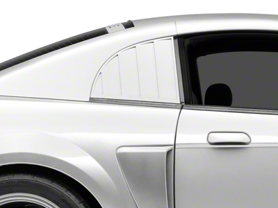 MMD Quarter Window Louvers - Pre-painted (99-04 GT, V6, Cobra Coupe)