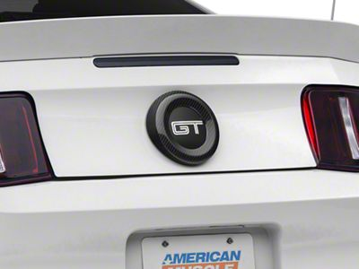 Add Carbon Fiber Trunk Emblem Surround