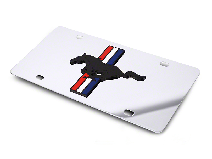 SpeedForm Front License Plate - Tri-Bar Pony on Mirror (79-17 All)