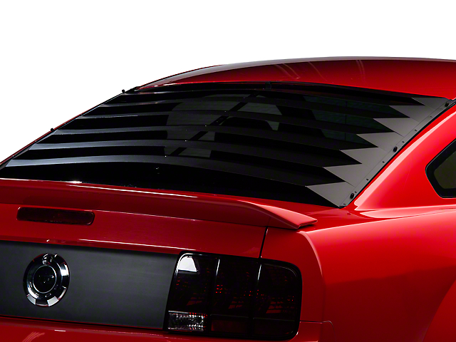 willpak mustang smooth aluminum rear window louvers 10612
