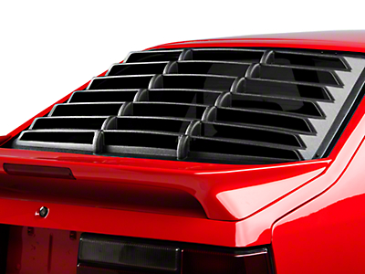 Rear Window Louvers - Textured ABS - Hatchback (79-93 All)