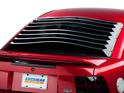 Rear Window Louvers - Smooth Aluminum (94-04 All)