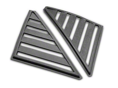 Hatchback Quarter Window Louvers - Unpainted (79-86 All)