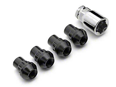 Locks with Key for Black Acorn Lug Nuts (79-14 All)