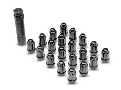 Black 6 Spline Lug Nuts - 1/2 in x 20 (79-14 All)