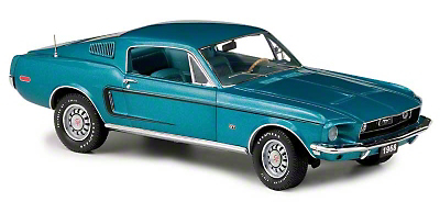 Diecast 1/24 Scale 1968 Fastback Mustang GT - Franklin Mint Limited Edition