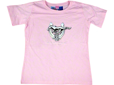 Mustang 45th Anniversary Pink T-Shirt - Women
