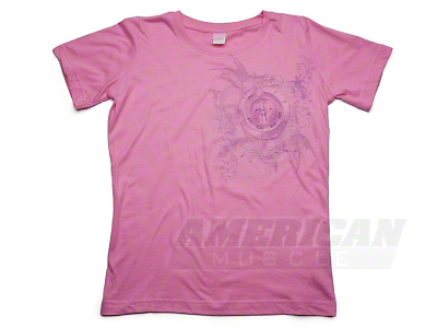 Tri-Bar Graphic Raspberry T-Shirt - Women