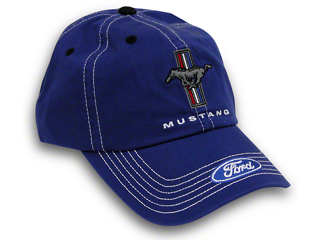 Tri-Bar Pony Hat - Blue