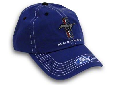 Tri-Bar Pony Hat - Blue