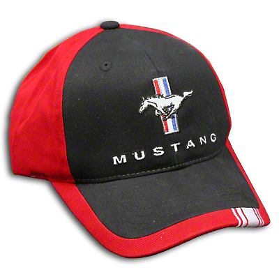 Tri-Bar Pony Hat - Black and Red