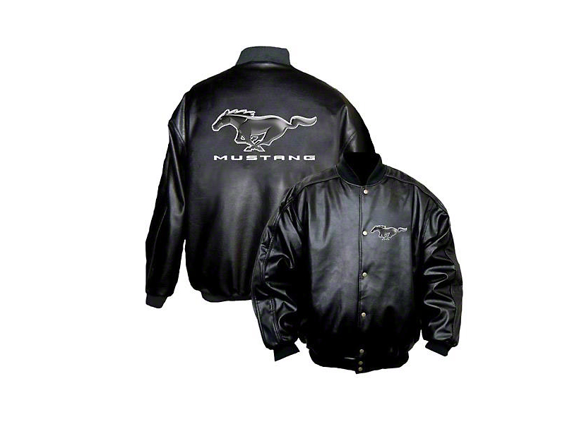 Mustang Embroidered Faux Leather Jacket