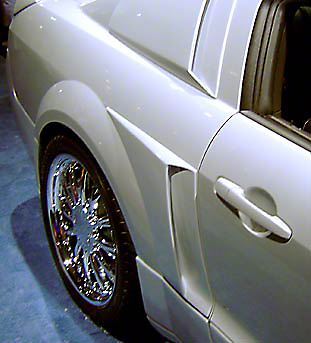 Xenon Mustang Side Scoops - Unpainted (05-09 Pair)